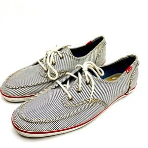 Keds Women's Pinstriped Boat Shoes Sneakers